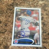 Dave Sappelt Signed 2012 Topps Auto Chicago Cubs