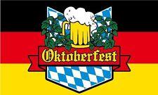 OKTOBERFEST FLAG 5' x 3' Bavaria German Germany Beer Festival Bar Pub Club