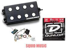 Seymour Duncan SMB-4Ds 4 String Pickup & 3 Knob Tone Circuit (FREE BASS STRINGS)