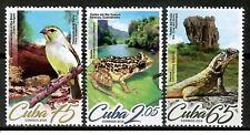Caribbean island 2019 birds frogs lizards set MNH