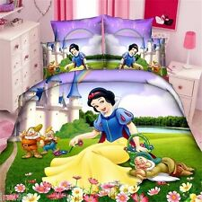 Snow white and seven Doorf Cartoon bedding set of duvet cover and pillowcase
