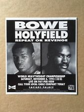 "1993 BOWE vs HOLYFIELD - REPEAT OR REVENGE TVKO Original Print Ad, 4.75""x5.25"""