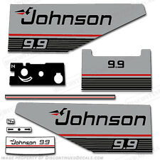 Johnson 1987 - 1988 9.9hp Outboard Decal Kit - Discontinued Decal Reproductions!
