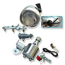 Motorized Bike Friction Generator Dynamo Head Tail Rear Light Lamp Kit 12V 6W