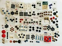 Lot Of Antique Vintage On Card Total of 266 Buttons Sewing & Craft