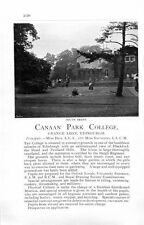 1912 Canaan Park College Edinburgh Strathearn Cookery School Ad