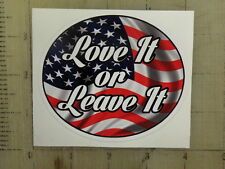 """Patriotic USA Flag """"Love It or Leave It"""" sticker 4""""x3.4"""""""