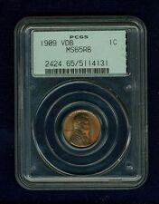 U.S.  1909-VDB   LINCOLN HEAD SMALL CENT COIN, MINT STATE, PCGS CERTIFIED MS65RB