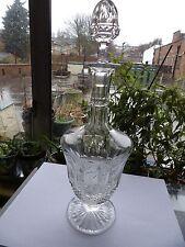 St. Louis Decantador de Vino Pequeño de Cristal en el patrón de Tommy Vintage 13 Pulgadas Raro