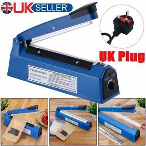 200/300/400mm Impulse Heat Sealer Plastic Bag Film Sealing Machine Metal ABS UK