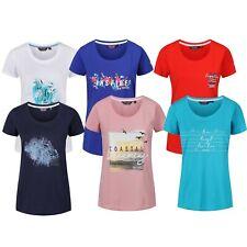 Camiseta Mujer Verano Estampado Gráfico Suave Manga Corta Top Algodón Filandra