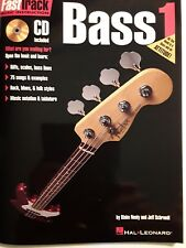 """FAST TRACK - NEW,  """"BASS 1"""" -  INSTRUCTION BOOK/CD"""