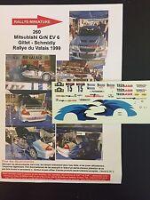 DECALS 1/43 MITSUBISHI LANCER EVO VI 6 GILLET RALLYE DU VALAIS 1999 RALLY SUISSE
