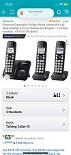 Panasonic Cordless Phone Set