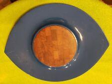 "DANSK International Designs BlueCUTTING BOARD 18 3/4"" ROUND ""The Eye"""