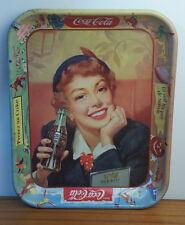 Coke Vtg 1950's Coca Colat TRAY French Buvez Prenez La Soif n'a pas de saison