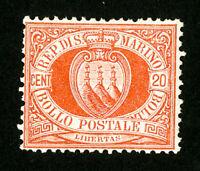 San Marino Stamps # 11 F-VF OG LH Scott Value $45.00