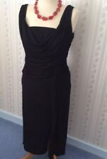 Ladies Coast  Stretch Black Lined Dress - Viscose - UK12