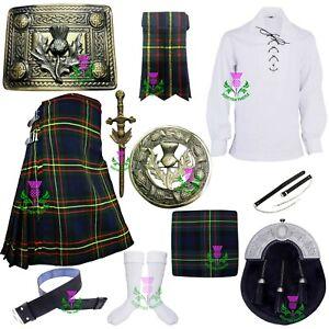 Scottish Kilt Outfit Set MacLaren Tartan Acrylic Wool Various Kilts  Accessories