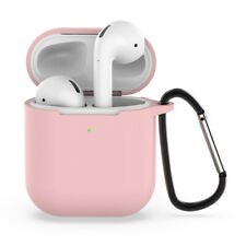 Wireless Bluetooth Headset  Silicone Case + Keychain Protective Cover Pink