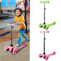 Kids Scooter Deluxe for Age 3-17 Adjustable Kick Scooter w/ LED Boys 01