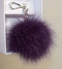 MICHAEL KORS Taschenschmuck Schlüsselanhänger KEY CHARMS purple MD FUR POM