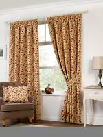 Kliving Chartwell Floral Tapestry Tie backs for Curtains  26 inch Natural Beige