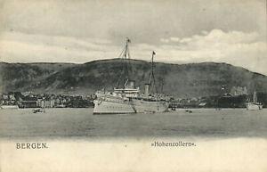 PC NORWAY, BERGEN, HOHENZOLLERN, Vintage Postcard (b24977)