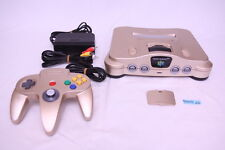 [Free track ship] Nintendo N64 Console Gold Japanese limited ver. Work