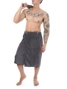 Men's Bath Towel Soft Bath Skirt Spa Gym Shower Wrap Beach Blanket Washcloths