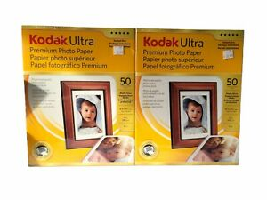 2 Pack Kodak Ultra Premium Photo Paper Studio Gloss 8.5x11 50 Sheets Each New