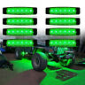 8x Green LED Rock Lights For JEEP Offroad ATV Truck Bed Under Body Fog Lights