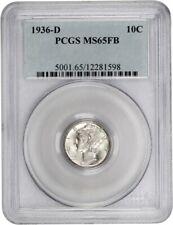 1936-D 10c PCGS MS65 FB - Mercury Dime