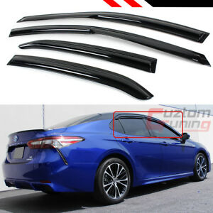 FOR 2018-2021 TOYOTA CAMRY LE SE XLE XSE WAVY  WINDOW VISOR RAIN GUARD DEFLECTOR