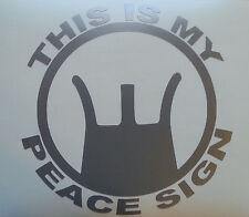 Weapon Sights Decal Peace Sign AR15 AK47 Gun Car Truck Window Vinyl Sticker USA