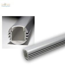 """1m LED Aluminium-Profil / Schiene """"PL-Oval""""  ALU Leiste Abdeckung OPAL 10003250"""