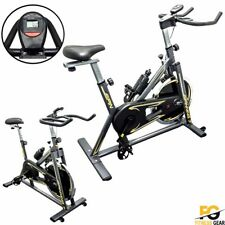 Spinning Exercise Machine Cardio Fitness Gym Bike Trainer Workout 13kg Flywheel