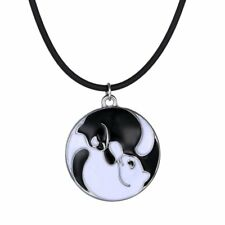 Lovely 2PCS Stainless Steel Couple Cats Pendant Necklace Lover Wedding Jewelry