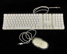 Apple A1048 Wired 2 USB Mac Keyboard Numeric Keypad Mouse M5769 Tested Working
