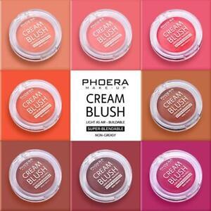 UK-PHOERA Face Makeup Cheek Blush Cream Matte Blusher Pressed Foundation Palette