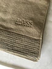 "NWOT Bathroom Rug Matt Embroider Hugo Boss Logo Design Color:Taupe 24"" x 32 1/2"""