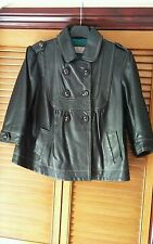 Leather River Island Button Hip Length Women's Coats & Jackets