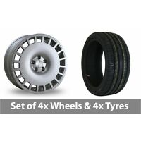 """4 x 18"""" Bola B12 Silver Alloy Wheel Rims and Tyres -  215/55/18"""
