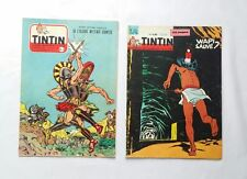 Journal Tintin N 415 & 711 CUVELIER / HERGE / BD / CHEQUE TINTIN