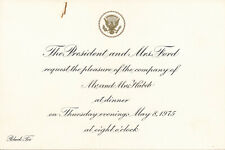 Gerald Ford - Invitation to Ambassador Habib to Dine at the White House - 1975