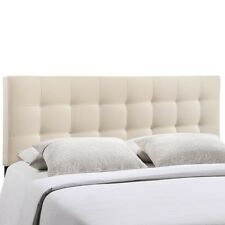 LexMod Lily Queen Fabric Headboard Category Bedroom Color Ivory MOD-5041-IVO NEW