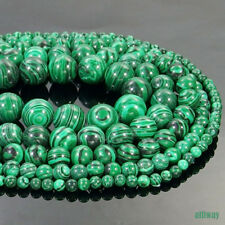 Malachite Stone Round Beads 15.5'' 2mm 3mm 4mm 6mm 8mm 10mm 12mm Jewelry DIY
