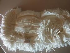 Fransenborde Wolle weiß 40m lang
