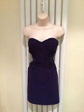 LIPSY Stunning Purple Bandeau Bodycon Strapless Party Dress Size 12