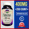 Nattokinase 200 mg  +200= 400 (NON-GMO & Gluten Free) 4000 FU 200 Caps Made USA